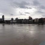 Hochwasser 2011 Blick auf Offenbach